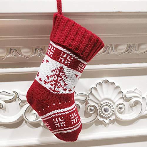 letaowl Navidad Medias Navidad Decoración Navidad Calcetines Adornos Colgante Pequeñas Botas Niños Año Nuevo Bolsa de Dulces Regalo Chimenea Árbol Joyería CT