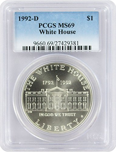 1992-D White House Commemorative Silver Dollar,...