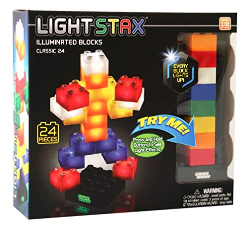 Light Stax Junior Classic Illuminated Blocks Classic Set (24 Pieces)