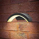 Integral LED Curve Wall Light IP54 7.5w 360lm 3000K Dark Grey