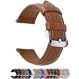 Fullmosa 14mm 16mm 18mm 19mm 20mm 22mm 24mm Bracelet Montre en Cuir Véritable, 12 Couleurs Axus Montre Bracelet à Dégagement Rapide,22mm Brun