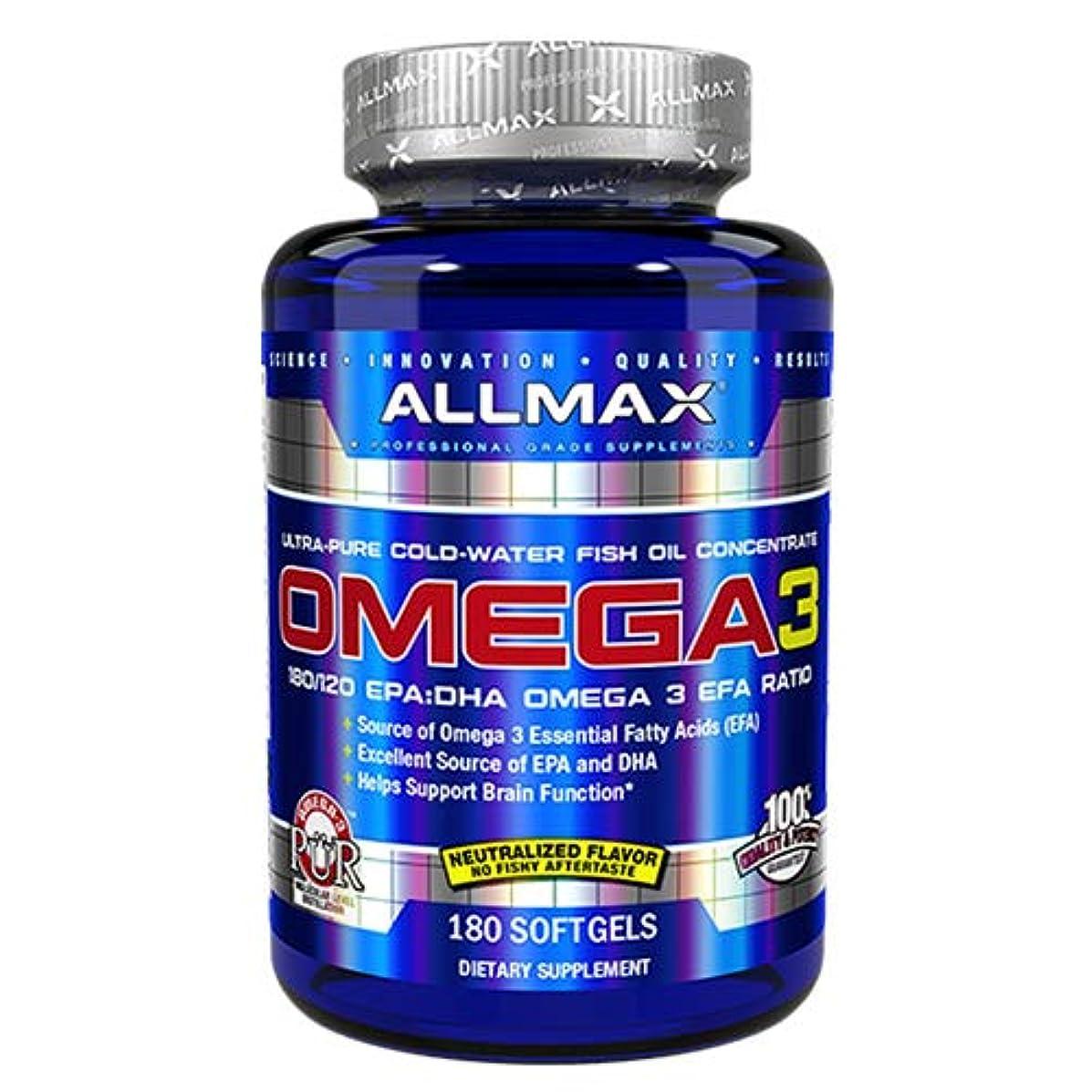 畝間クライマックス報酬オメガ3 1000mg 180粒 Allmax Nutrition(オールマックスニュートリション)[海外直送品]