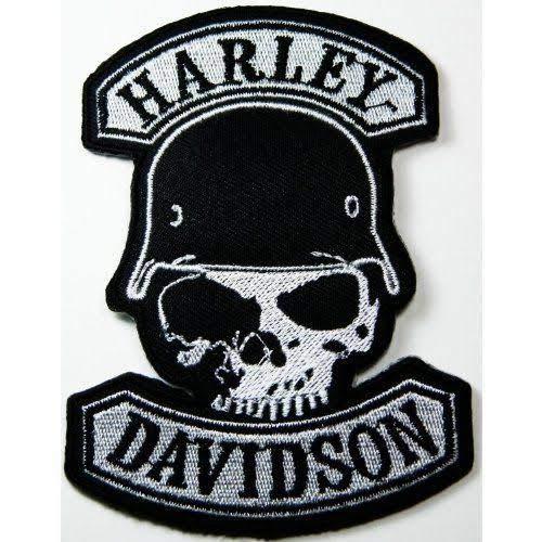 LSM Harley Davidson Solider Skull – Toppa Ricamata per Moto e Motociclisti