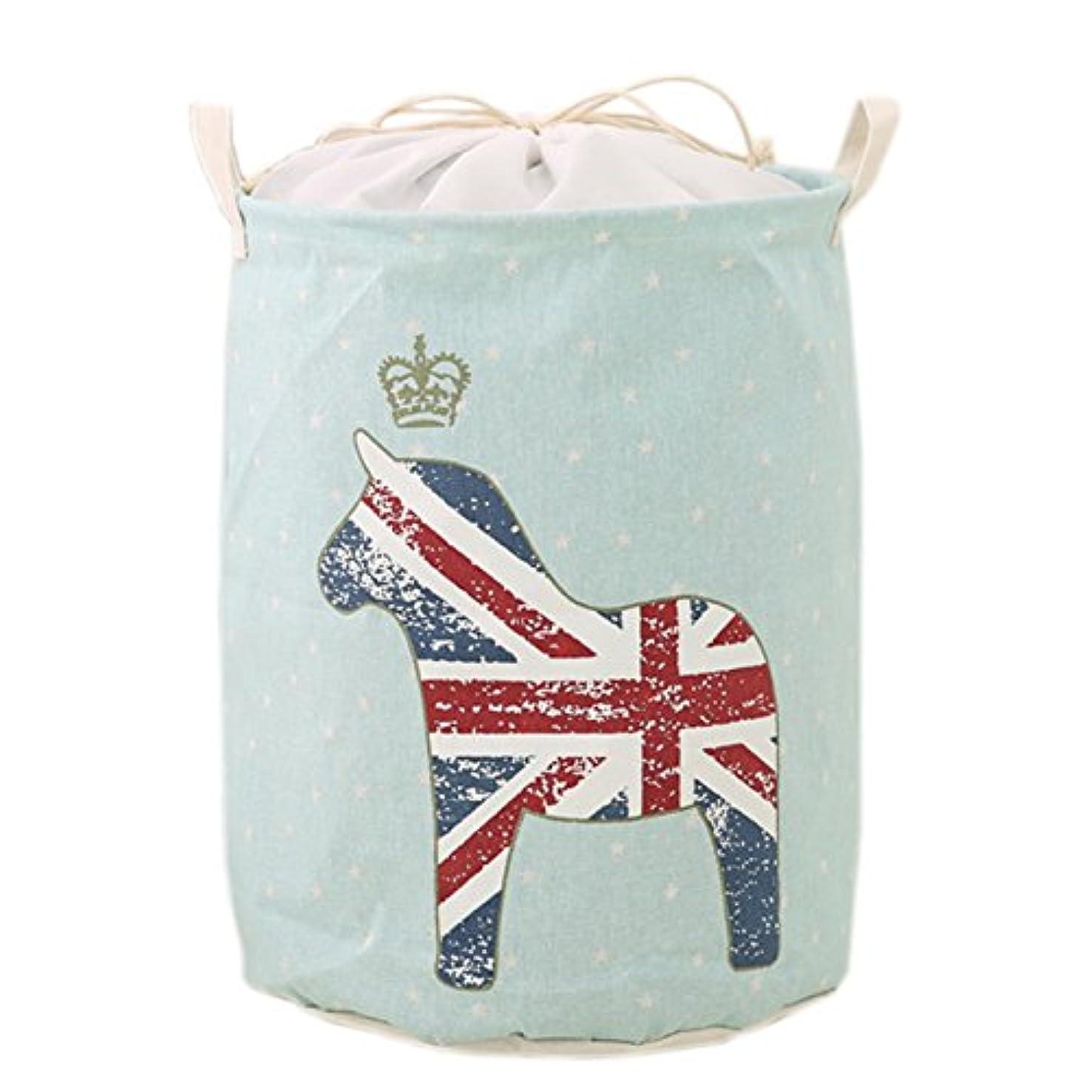 Soaptree Drawstring Canvas Laundry Basket,Large Foldable Washing Bins,Dustproof Toys Organizers and Storage Bags