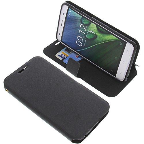 foto-kontor Tasche für Acer Liquid Z6E Book Style schwarz Schutz Hülle Buch