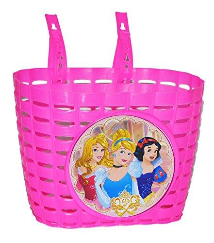 alles-meine.de GmbH Fahrradkorb 3 Disney Prinzessinnen mit Befestigung den Lenker - Fahrrad Roller Dreirad - Mädchen Kinder Prinzessin