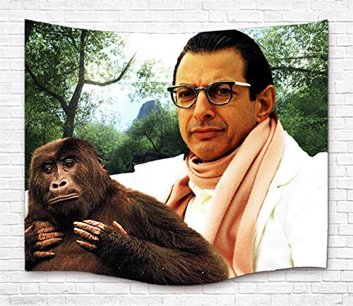 "TJFZARTCC Jeff Goldblum Custom Tapestry Hanging Tapestry Wall Art for Home Decor Bedroom Dorm Room Living Room Light-Weight Polyester Fabric 60"" W x 50"" H"