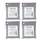 SUPVOX 4 pezzi di carbone di bambù purificatore d'aria borsa deodorante assorbitore di umidità per armadio da casa frigorifero auto grigio