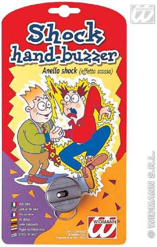 Sancto 4842G Widmann 4842G-Scherzartikel Schock Ring, Schlag-Effekt, Handschocker, Stromschlag, 1. April, Unisex– Erwachsene, Multicoloured