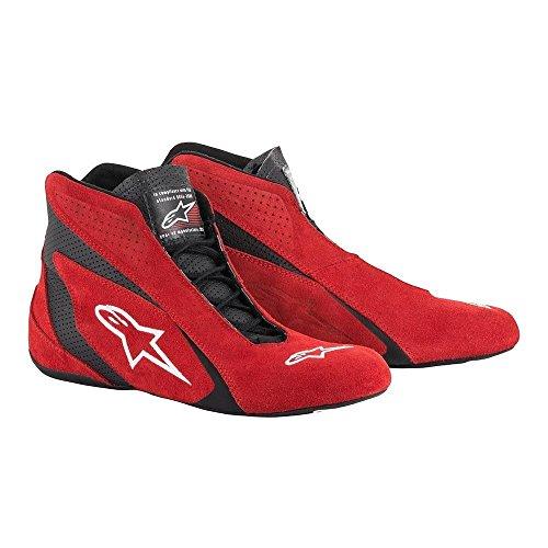 Alpinestars 2710618-31-8.5 SP Shoes, Red/Black, Size 8.5, SFI 3.3 Level 5/FIA, Suede