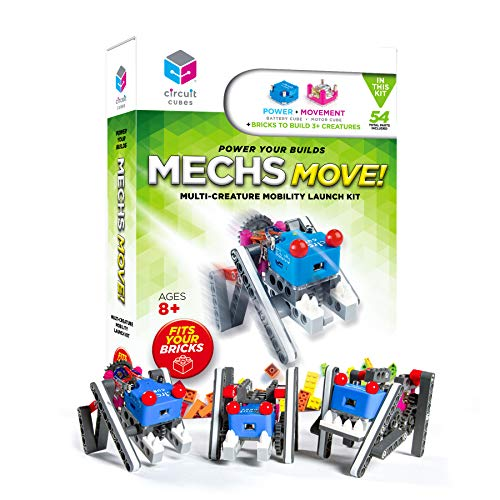 Circuit Cubes Mechs Move! Multi-Creature Mobility Launch Kit - Engineering STEM Kit for Children and Adults