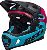 BELL Super DH MIPS Casco MTB, Unisex, BEHSUDHMB4L, Unhinged Matte/Gloss Black/Berry/Blue, Large/58-62 cm