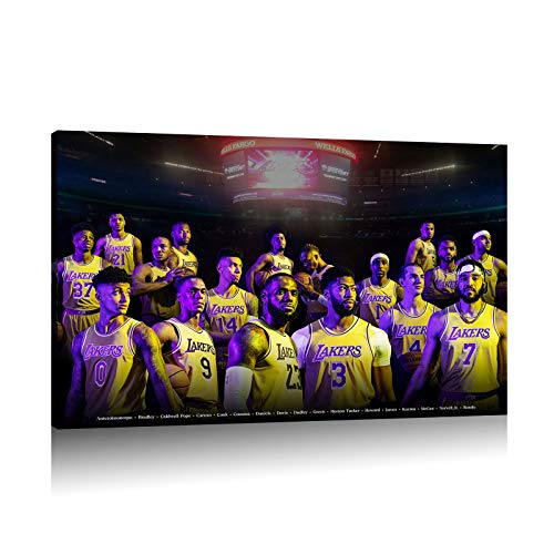 LeBron James and the team collective photo basketball poster canvas...