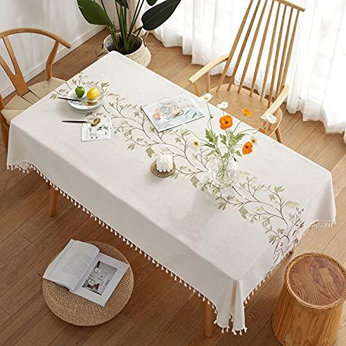 CNYG Mantel rectangular para mesa de poliéster, mantel para picnic, fiestas, cenas, bodas, exteriores, 110 x 170 cm