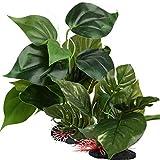 BHGT 2pcs Plantas Artificiales Acuario para Decoración Acuario Pecera Estanque Hojas Verdes Artificiales 23cm y 18cm