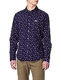 Wrangler Pocket Shirt Camicia, Indaco, S Uomo