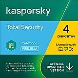 Kaspersky Total Security 2021 | 4 Dispositivi | 1 Anno | PC / Mac / Android | Codice d'attivazione via email