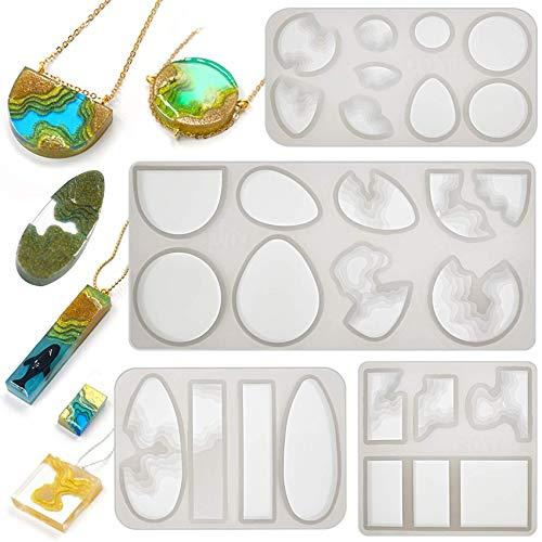 Diorama Epoxy hars siliconen vormen gieten River Bay Terrarium ketting hanger sieraden maken benodigdheden 4 laden Set