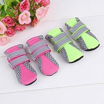 Fdit Chaussures Chien Pet Chaussures Maille Antidérapant Respirant Semelle De Protection protège-Pattes Doux Bottes pour Chiot Chien(Vert S)