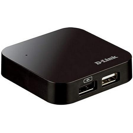 D-Link DUB-H4 Hub a 4 Porte da 480 Mbps, USB 2.0, per Trasferimento Dati, USB-C