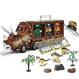 adgfd Dinosaurios Transporter Truck Coches De Juguete, Juguetes De Dinosaurios para Niños, Juego De Transportadores De Coches, Transporte De Dinosaurios con Luces Y Música.