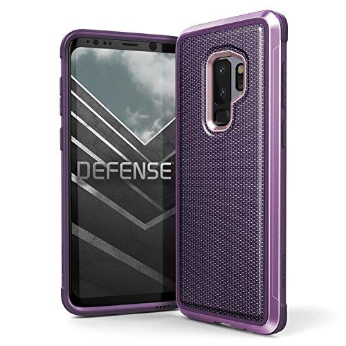 X-Doria Galaxy S9 Plus Defense Lux Premium Protetora Moldura De Alumínio Design Fino À Prova De Choque Case Para Samsung Galaxy S9 Plus Nylon Balístico, X-Doria, XD349-02, Roxo