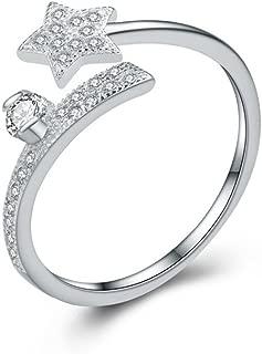 NIDA New York - 925 Sterling Silver Zircon Lucky Star Ring