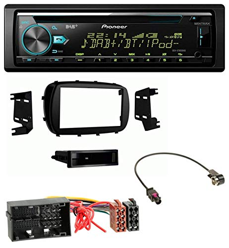 caraudio24 Pioneer DEH-X7800DAB DAB MP3 CD USB Bluetooth Autoradio für FIAT 500X (ab 2015)