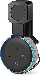 HLOMOM Dot3 壁掛けホルダー Dot第3世代 専用 ホルダー スピーカー アクセサリー 保護 スタンドマウント 携帯便利 (ブラック)