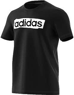 Adidas Men's E LIN BRUSH T T-Shirt, Black, Large