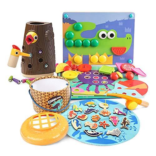 Yifuty Specht Fang Insekten Pädagogische frühe Bildung Spielzeug EIN Jahr alt 2 Jahre alt 3 Jungen und Mädchen Baby Geburtstagsgeschenk Set 320 * 210 * 250mm