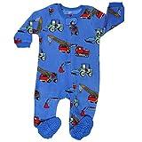 elowel | Schlafanzug | Jungen Pyjama | Babys, Kinder | Einteiler | Fleece, Flauschig | Strampler | 100% Polyester | Warm, Angehnem | Größe: 3 Jahre (98) | Design: Kräne | Farbe: Blau