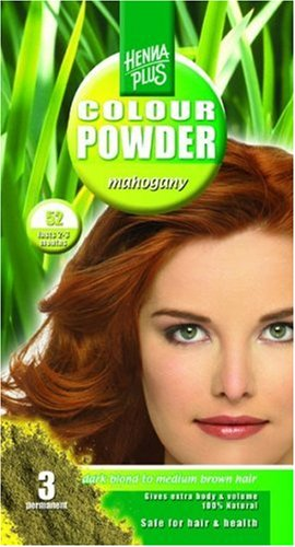 Henna Plus Colour Powder 52 Mahogany, 100 g