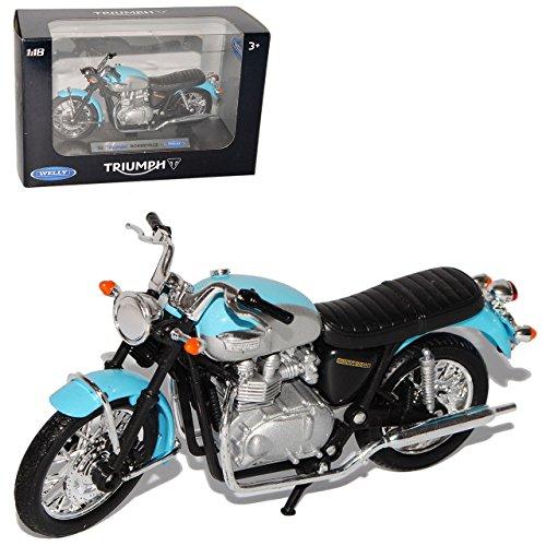 Triumph Bonneville 2002 Blau Silber 1/18 Welly Modellmotorrad Modell Motorrad