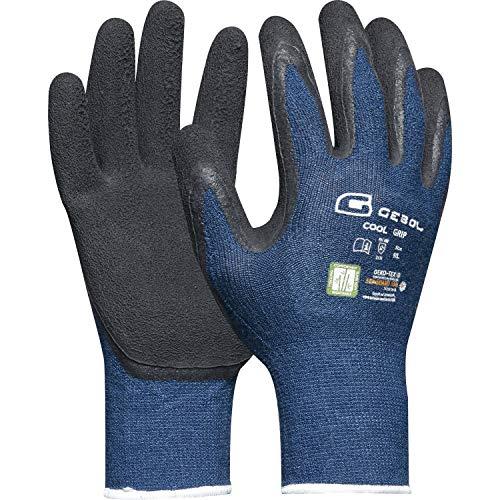 Gebol lavoro guanto Cool Grip misura 9fibra di bambù con clima funzione, Grigio, 528926, Grigio, 528926