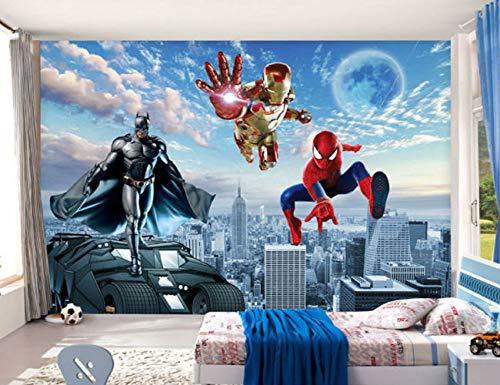 Benutzerdefinierte 3d-fototapete Batman Iron Man Tapete Spider Man Wandbilder Jungen Schlafzimmer Wohnzimmer Tv Hintergrund Wand Raumdekor