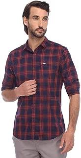 Wrangler Mens Slim Collar Check Shirt