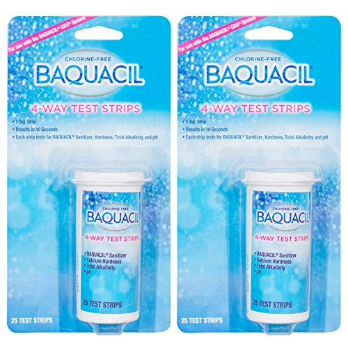 Baquacil 4 Way Test Strips - 25 count - 2 Pack