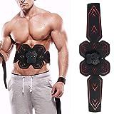 Abs Trainer EMS Electroestimulador Muscular, Tonificación Muscular tonificante Abdominal para Hombres y Mujeres Abdomen Fitness