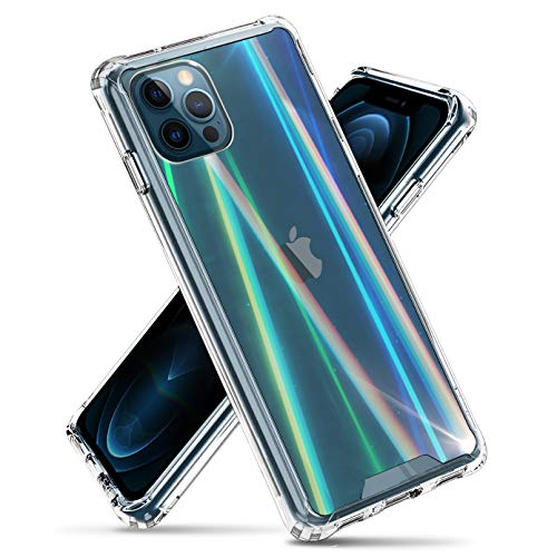 VVUPIC Compatible with iPhone 12 Mini Slim & Clear [Auroral Light] Rainbow Prism Case, Shockproof Hybrid Phone Protective Cover