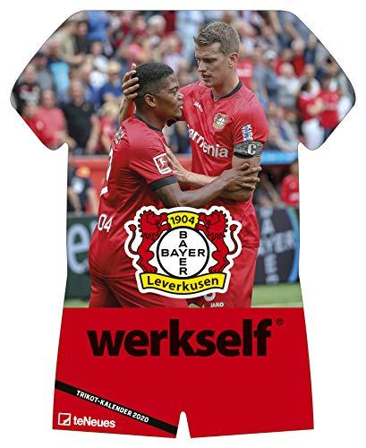 Bayer 04 Leverkusen 2020 Trikotkalender - 34x42cm - Fußballkalender - Wandkalender