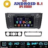 Iuspirit Autoradio navigateur GPS Android 8.1, DVD, USB, SD, Bluetooth compatible avec BMW serie 1 / BMW E81 / BMW E82 / BMW E88