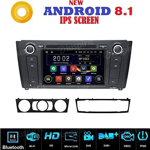 ANDROID 7.1 GPS DVD USB SD Bluetooth autoradio navigatore compatibile con BMW serie 1 / BMW E81 / BMW E82 / BMW E88