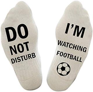Lustige Socken Herren Damen Unisex Witzige Socken Winter Wollesocken mit Spruch DO NOT DISTURB,IM WATCHING FOOTBALL,Lustig...