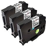 Upwinning kompatibel Schriftbänder als Ersatz für Brother P-touch TZe-131 12mm schwarz auf transparent Schriftband