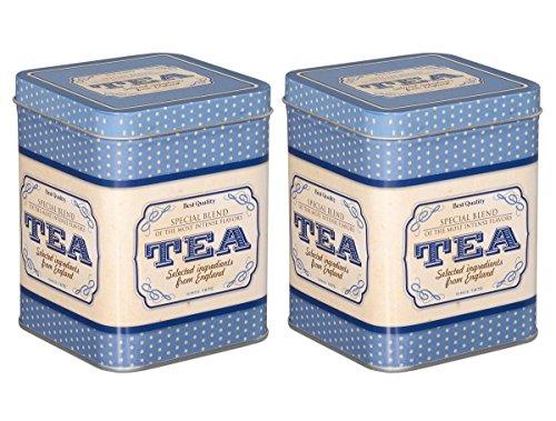 tea4chill Teedosen Set/Kaffeedosen Set/Gewürzdosen Set, 2 Stück Special Blend je 200g, 88 x 88 x 115mm (LxBxH) eckig