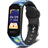 MorePro Slim Kids Fitness Tracker with 6 Sport Modes, Body Temperature DIY Screen Smart Watch with Heart Rate Blood Pressure Sleep Monitor, IP68 Waterproof Pedometer for Teens Boys.