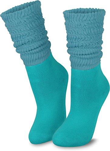 normani 3 Paar Casual Couch Wellness & Workout Slouch Homewear Socken für Damen Farbe Petrol Größe 35/38