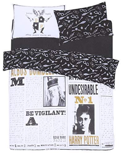 Parure de lit en Noir et Blanc 230x220