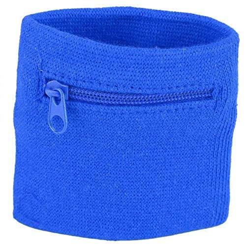 Cartera de Pulsera para el Tobillo, Pulsera Unisex con Llavero Cartera de Pulsera Deportiva Cartera con Bolsillo con Cremallera Almacenamiento de Llaves Bolsillo con Cremallera (Azul)